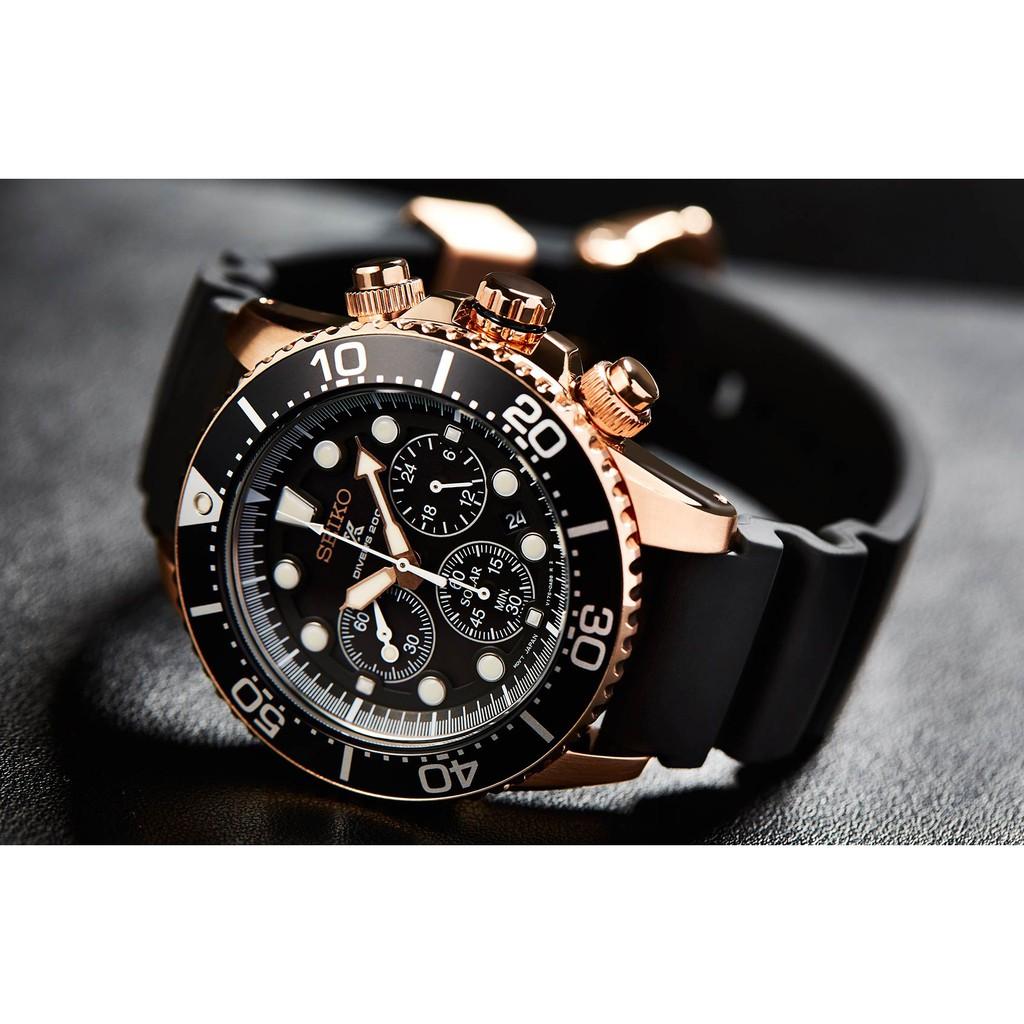นาฬิกาผู้ชาย SEIKO Solar Diver Prospex รุ่น SSC618P1  Solar Chronograph Man's Watch
