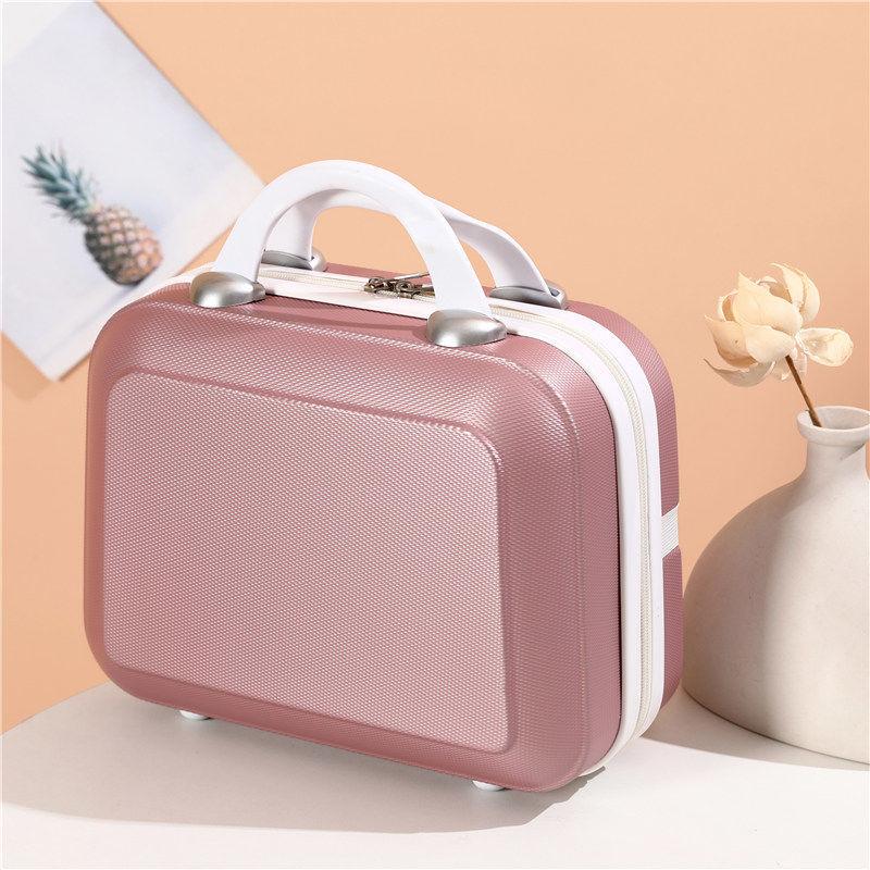 ขายร้อนกระเป๋าพกพาย้อนยุคกระเป๋าเดินทางขนาดเล็กหญิง14-กล่องใส่เครื่องสำอางค์ขนาดนิ้ว16กระเป๋าขนาดเล็กน้ำหนักเบาขนาดเล็กพ