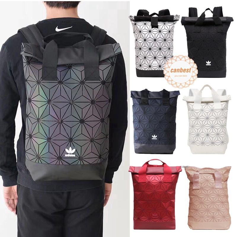 Original Adidas กระเป๋าเป้สะพายหลังลาย 3 D เหมาะกับการพกพาเดินทาง