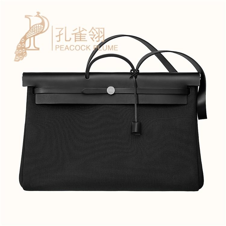 ฤดูใบไม้ผลิ 2020 Hermes  Hermes กระเป๋าเย็บกระเป๋าเดินทางผ้าใบกระเป๋าถือ 077787CK