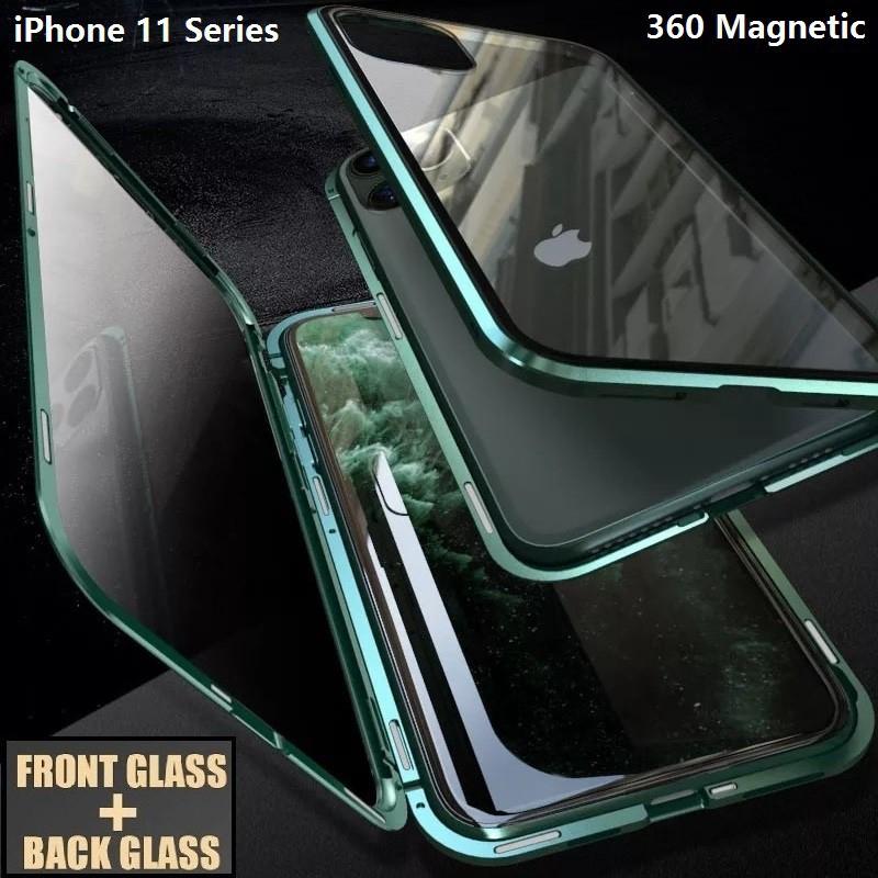 เคสโทรศัพท์มือถือแบบสองด้านสําหรับ iphone 11 pro 11 pro max 360