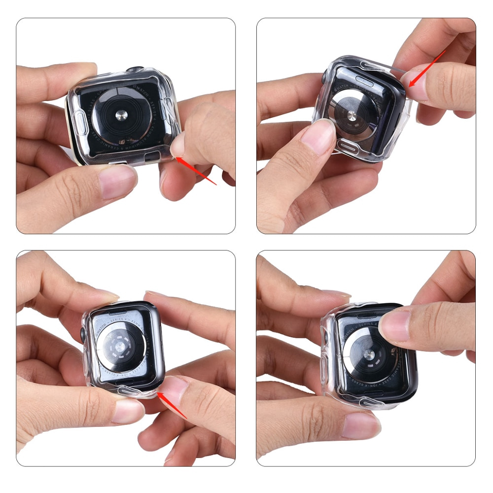 applewatch เคส applewatch series 5 3 4 1 2 iwatch 44 มม. 38 มม. 40 มม. 44 มม. case Screen Protector with Full Protection