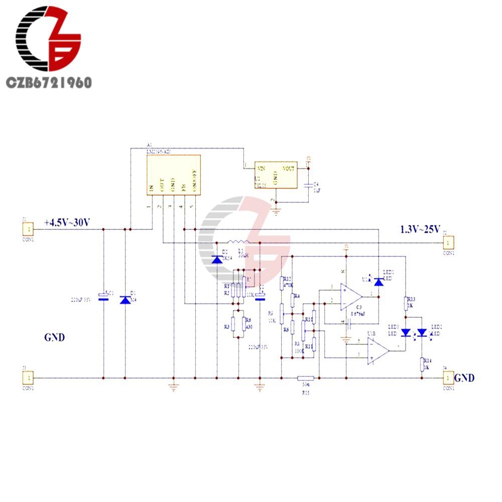 LM2596 DC-DC Step-down Adjustable CC//CV Power Supply Module Converter LED driver