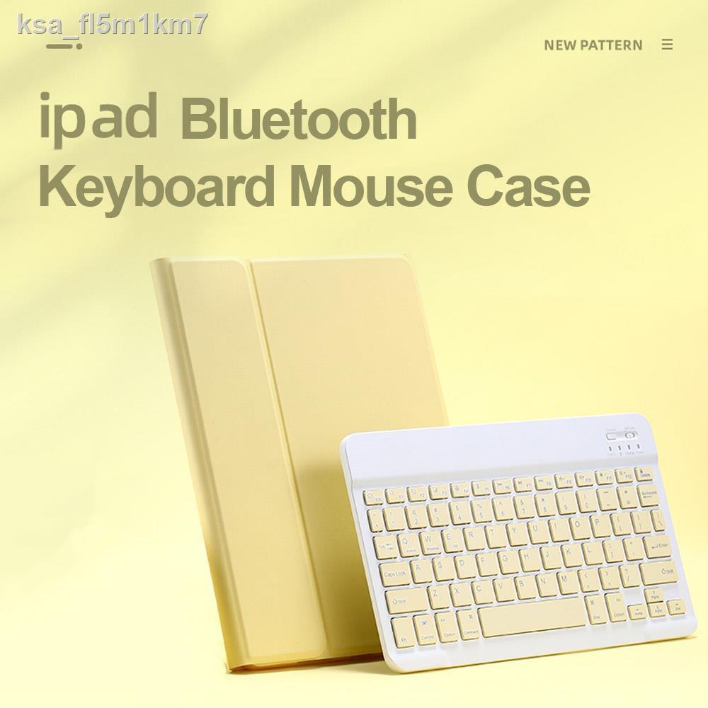 ผลิตภัณฑ์ป้องกันโทรศัพท์มือถือ❏✺[แป้นพิมพ์ไทย] เคสคีย์บอร์ด iPad gen7 10.2 / 9.7 2017/2018 Air 1/2 keyboard case มีช่อง