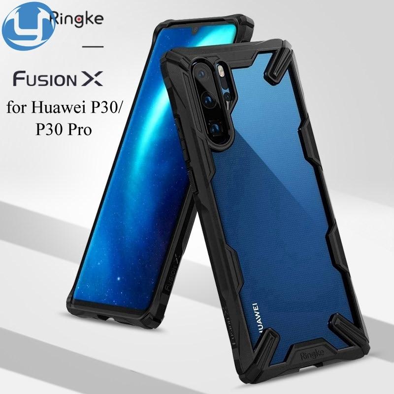 Ringke ( Fusion - X ) เคสโทรศัพท์มือถือแบบสองชั้นสําหรับ Huawei P 40 P 30 Pro P 40 Lite E Mate 30 20 Pro