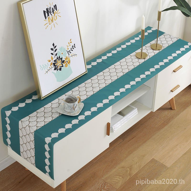 Nordic INS Wind Waterproof Floral Tablecloth Anti-Dust Coffee Table Coverตู้ทีวีผ้าปูโต๊ะโต๊ะน้ำชาผ้าปูโต๊ะตู้รองเท้ากันน้ำผ้าคลุมโต๊ะข้างเตียงห้องนั่งเล่นสไตล์ยุโรปเสื่อตารางสี่เหลี่ยม