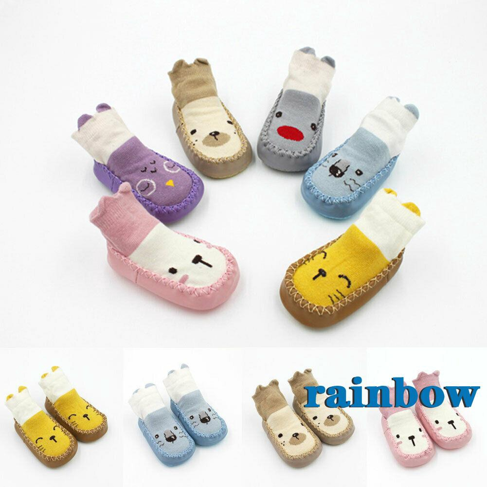 Baby Kids Toddler Cartoon Socks Anti-slip Sock Shoes Boots Floor Slipper Socks
