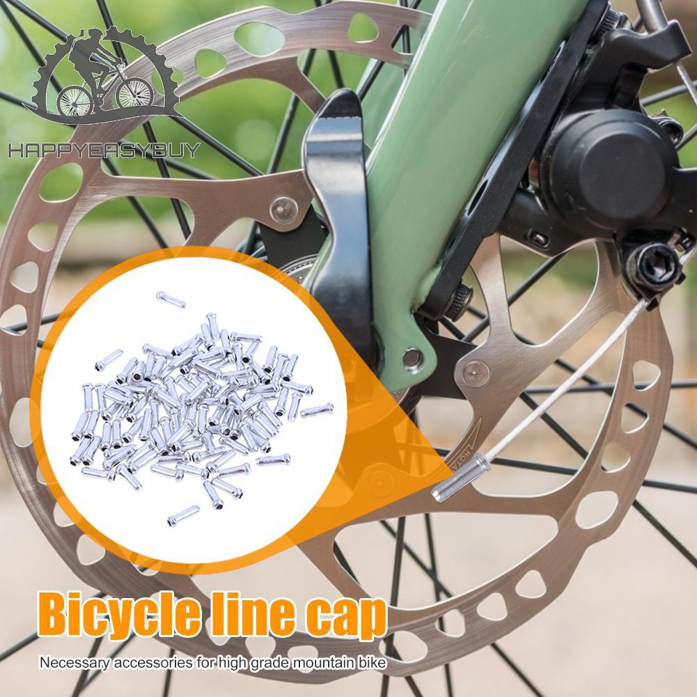 200 x Black Bike Brake Cap Brake Cable End Cap Shifter Inner Cable Tips