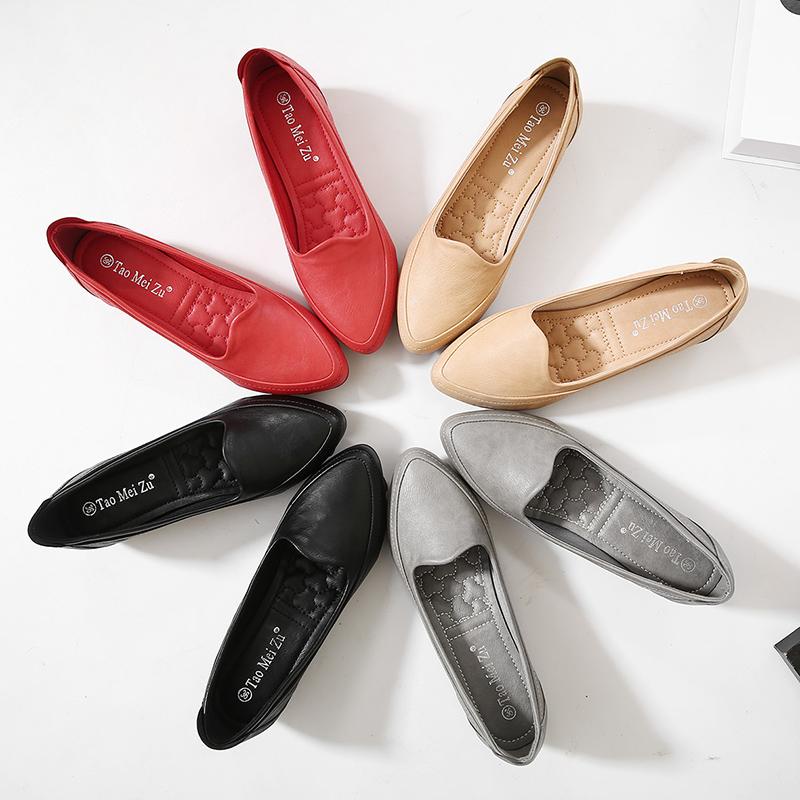 รองเท้าคัชชูส้นเตารีด ฤดูร้อนขนาดเล็ก31 32 33ปากตื้นชี้รองเท้าเดียวลิ่มหญิงเพิ่มขึ้นรองเท้าPeasรองเท้าทำงานสีดำรองเท้า o