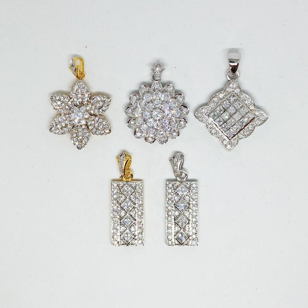 จี้ เพชร cz คละแบบ ชุบทองไมครอนหน้าขาว และทองคำขาว ราคาพิเศษ