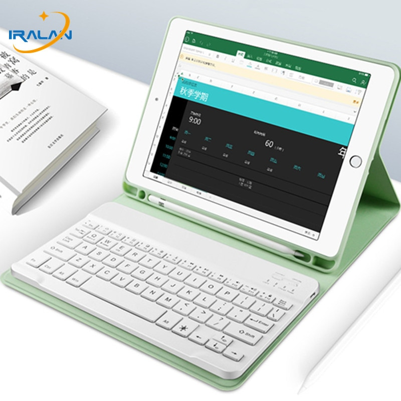 Bluetooth Keyboard Case For Apple iPad 10.2 2019 7th Generation PU Leather Cover for iPad 10.2 Case With Pencil