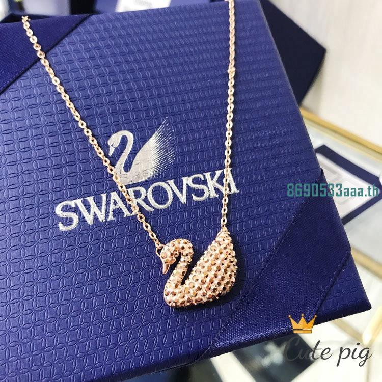 Swarovski Rose gold หงส์สร้อยคอหญิงไหปลาร้าเชนเครื่องประดับระดับไฮเอนด์ 5368988