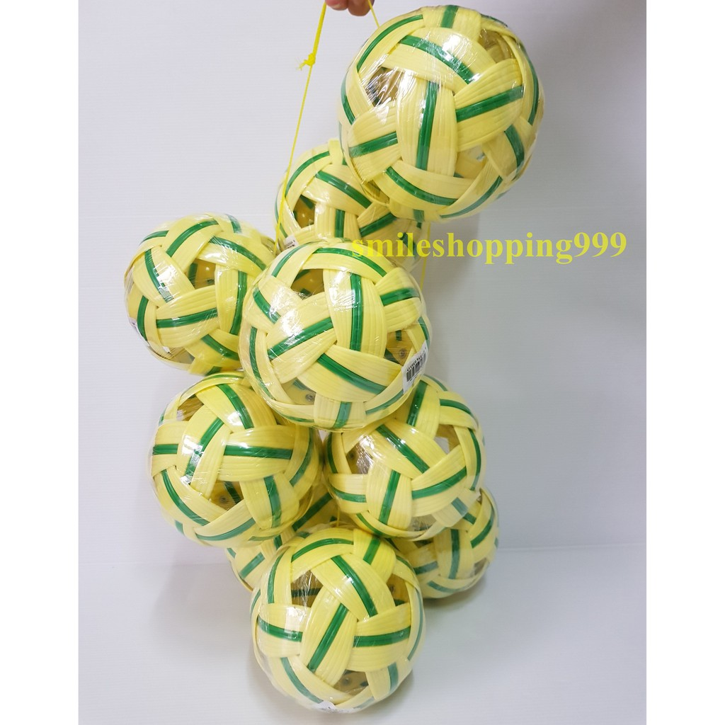 ตะกร้อ เซปักตะกร้อ ลูกตะกร้อ (สีเขียว) กีฬา takraw ลูกเซปักตะกร้อ (ซื้อเยอะถูกกว่า)