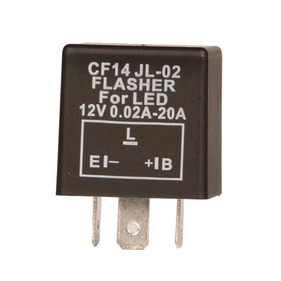 3 Pin Adjustable Electronic LED Indicator Relay Car Turn Signal Flasher CF13 12V