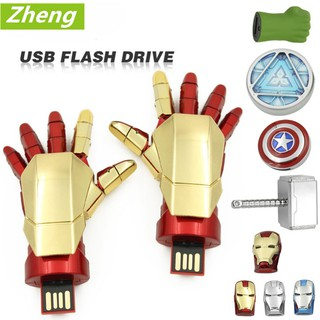 Review USB flash drive 16GB 32GB US captain Iron Man Green Giant Raytheon Memory Stick