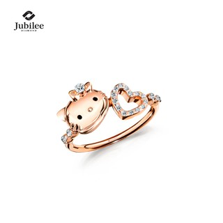 [Sanrio ลิขสิทธิ์แท้] Jubilee Diamond - LOVABLE LIVELY RING: HELLO KITTY