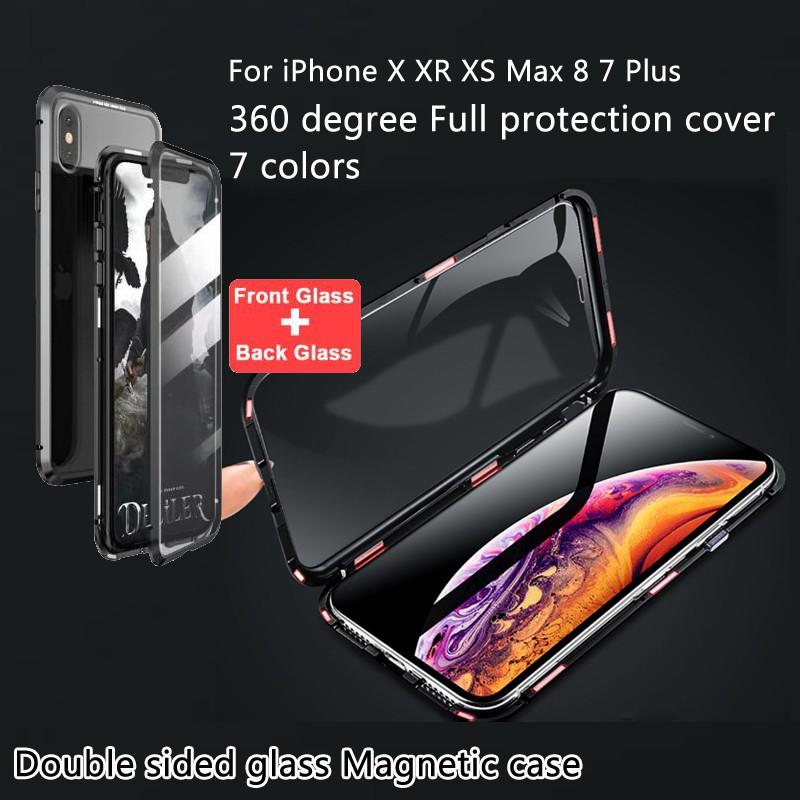 เคสโทรศัพท์มือถือแบบสองด้านสําหรับ Iphone 11 Pro Max X Xs Max Xr 8p / 7p 8 / 7 6 S Plus