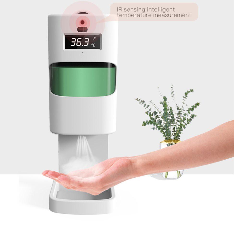 สะดวก2in1 เครื่องวัดไข้ใส่เจลล้างมือ ใส่น้ำยาล้างมือได้ เครื่องวัดอุณหภูมิอัตโนมัติ แบบติดผนัง เครื่องวัดไข้แบบแขวน ใส่สบู่ได้