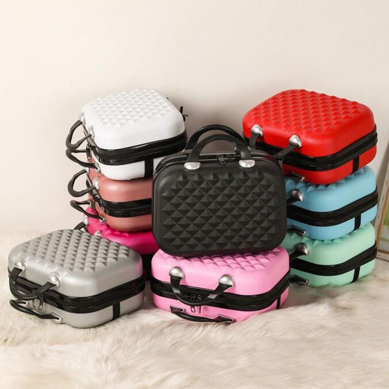 กระเป๋าเครื่องสำอาง ใหม่ 14 นิ้วกรณีเครื่องสำอางหญิงกระเป๋าเดินทางมัลติฟังก์ชั่นขนาดเล็กสะดวกกันน้ำล้างเก็บกระเป๋าเดินทา