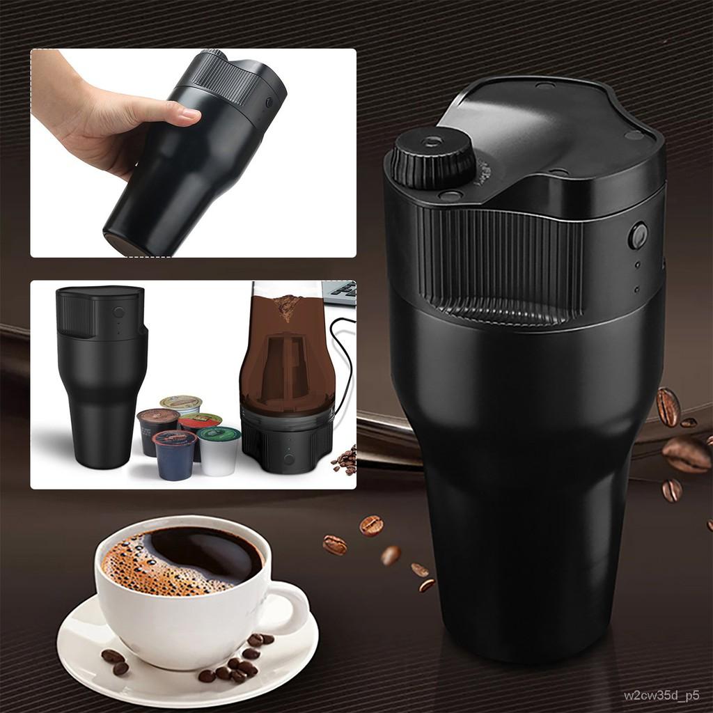 【Ready Stock + ของแท้100% 】500มล.เครื่องสกัดกาแฟแบบพกพากลางแจ้งหม้อพกพาUSBเครื่องทำกาแฟไฟฟ้าเครื่องกาแฟแบบแคปซูล IEE3