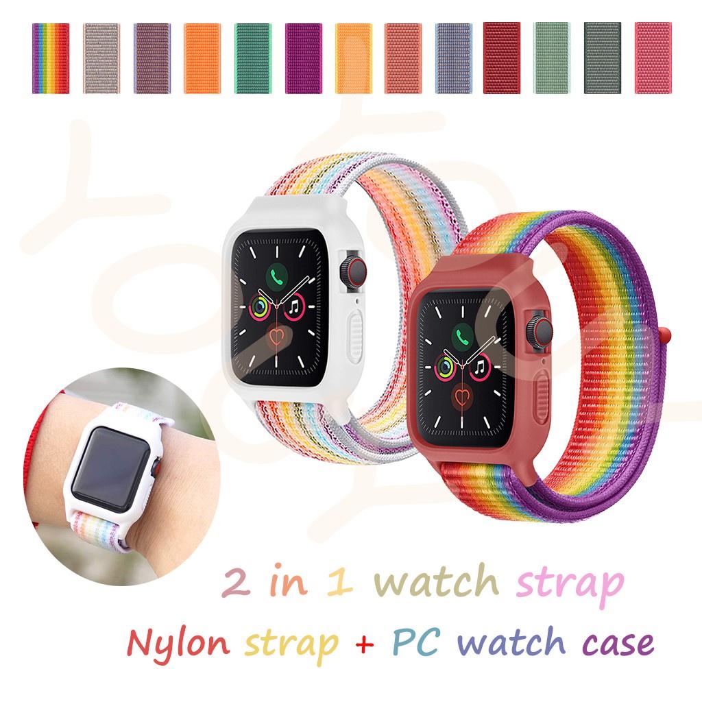 สาย applewatch สายนาฬิกา applewatch สาย Apple Watch สายนาฬิกา Apple สายนาฬิกาไนล่อน. สายนาฬิกาไนลอน 2 in 1 (สายคล้อง + ต