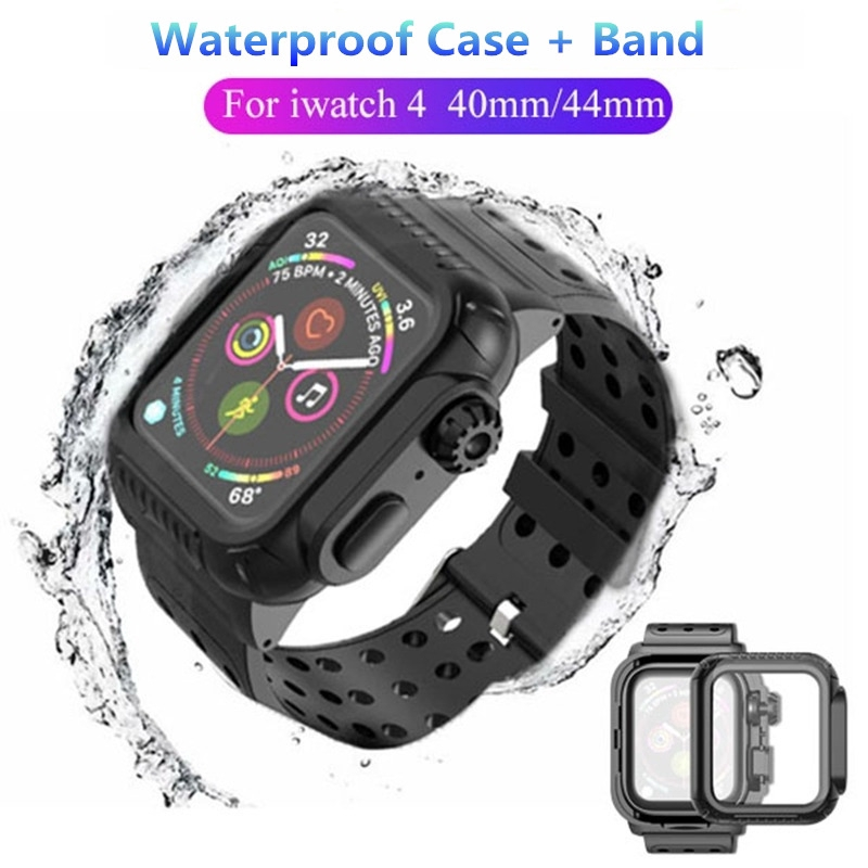 ( Cod ) [Redpepper] Life Waterproof Watch Case With Watch Band for Apple Watch Series SE/6/5/4 for iWatch 44mm 40mm