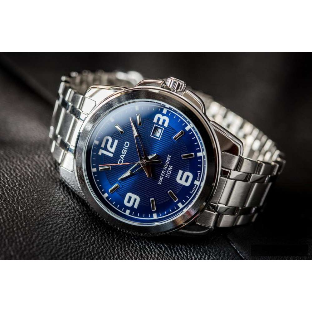 จัดส่งฟรีWin Watch Shop CASIO STANDARD นาฬิกาผู้ชาย รุ่น MTP-1314D-2AV สายสแตนเลส หน้าปัดสีน้ำเงิน - มั่นใจ ของแท้100%