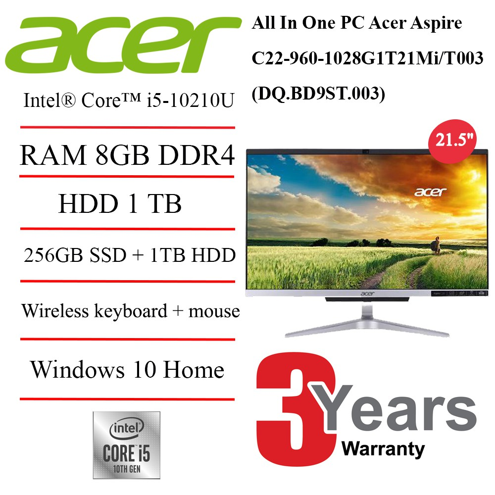 All In One PC Acer Aspire C22-960-1028G1T21Mi/T003 (DQ.BD9ST.003)