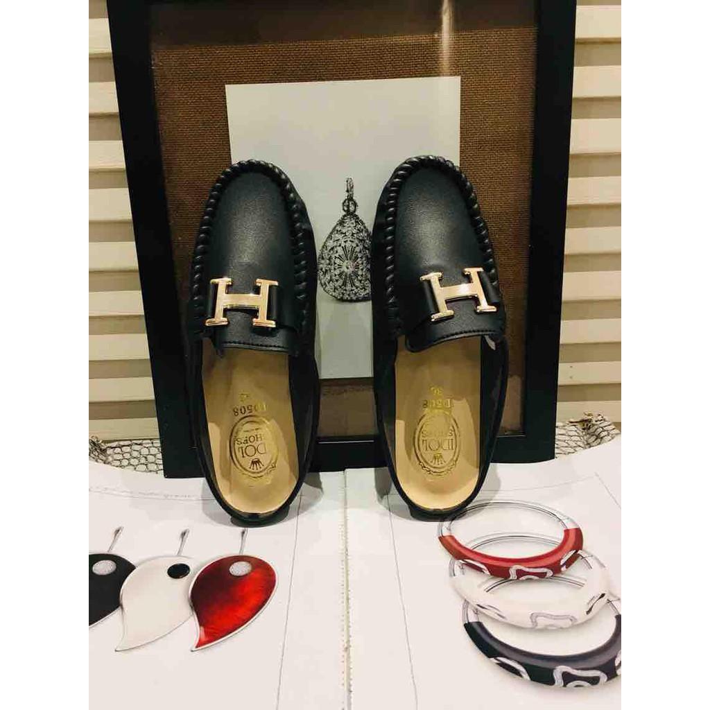 HPB รองเท้าแตะคัชชูส้นเปิด (ดำ)(H)รองเท้าแตะผู้หญิง