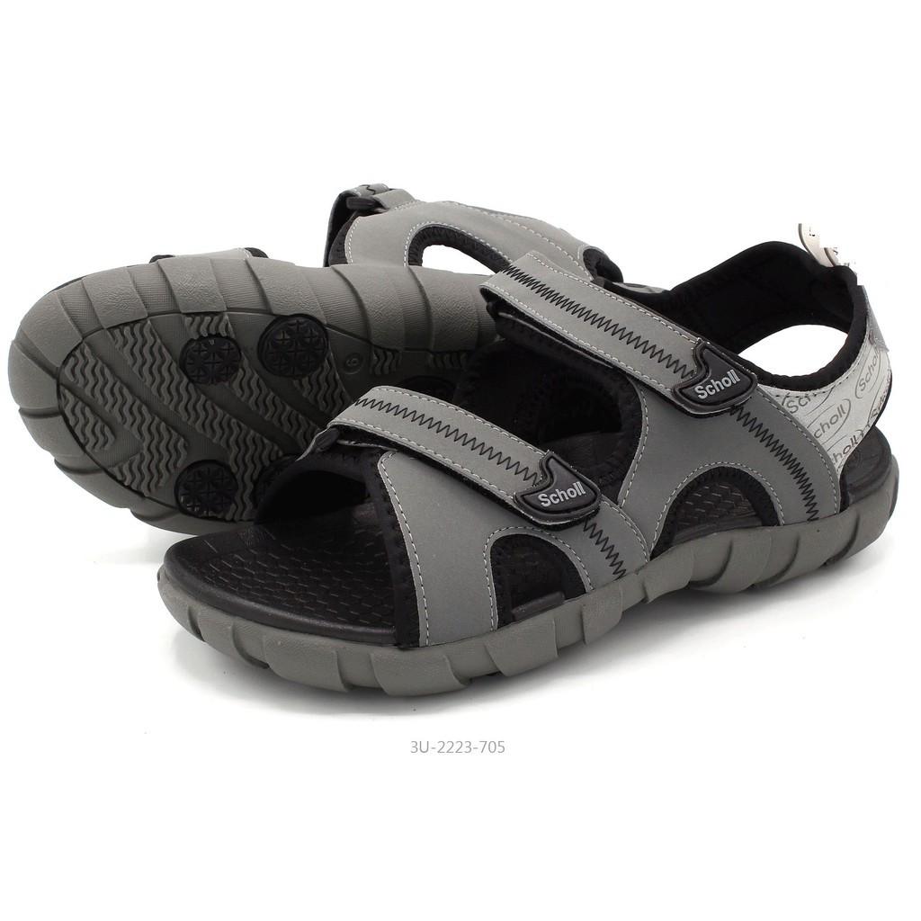 รองเท้าชาย รองเท้าคัชชูผู้ชาย รองเท้ารัดส้นผู้ชาย รองเท้ารัดส้น รองเท้าแตะ รองเท้า scholl รุ่น 2U 2223 สี ดำเหลือง เทา