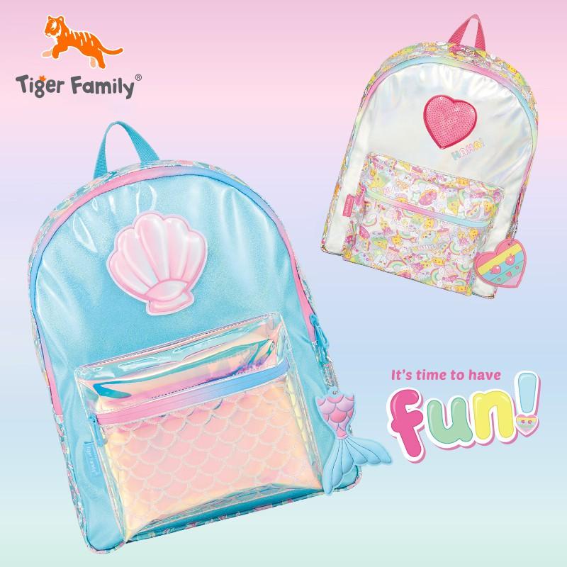 Tigerfamily กระเป๋านักเรียนประถมกระเป๋าเดินทางกระเป๋าเป้ใบเล็กสร้างสรรค์ของขวัญเด็กน่ารักของขวัญวันเกิด