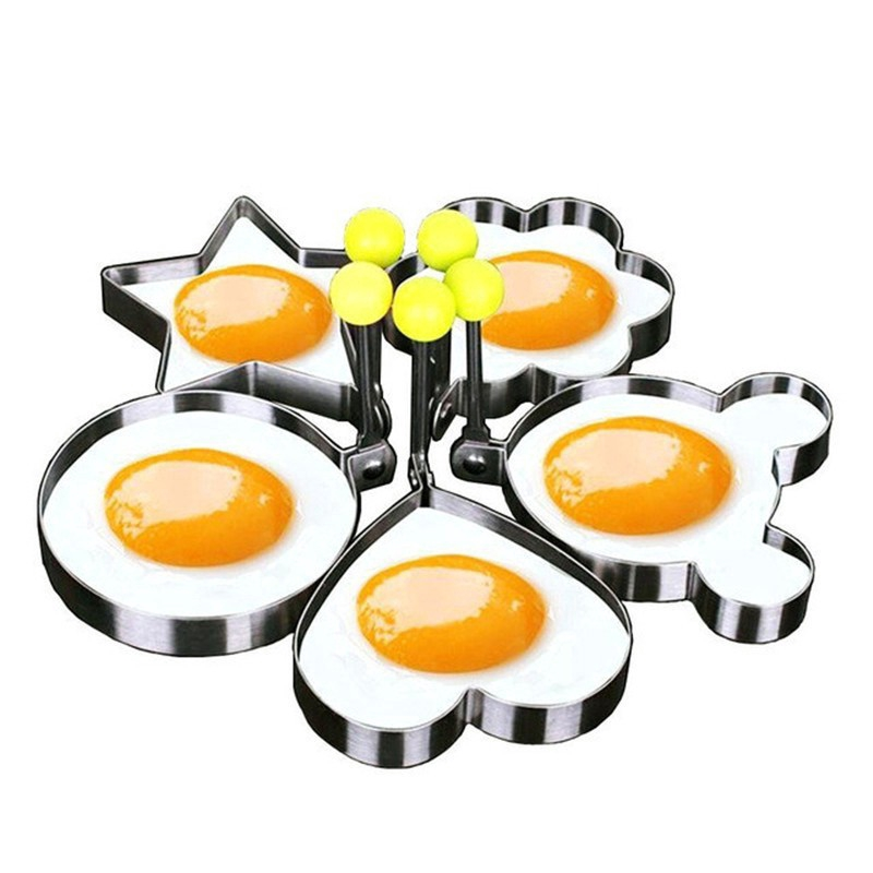 Nonstick 4-Piece Egg Pancake Fried Egg Mold Ring Set for Breakfast Sandwiches Mold Kitchen Tool Pancake Rings