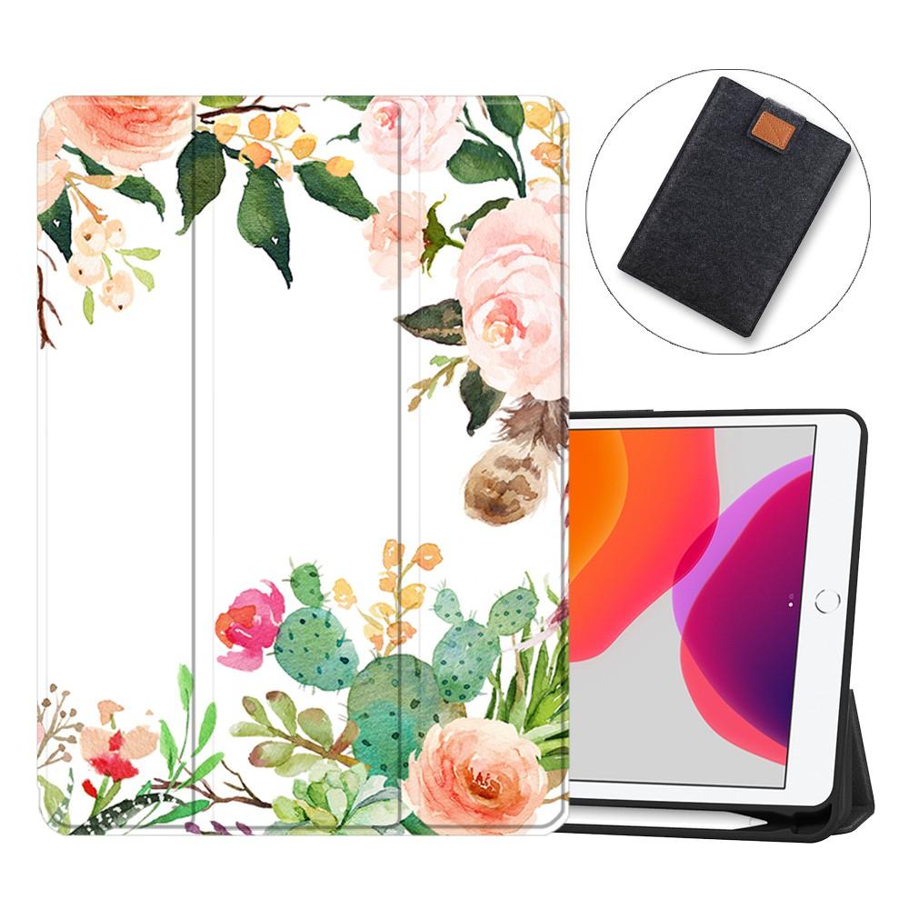 "SDH New iPad 7th 8th Generation 10.2"" Case 2019 2020 (A2232 A2198 A2200)(A2270 A2428 A2429) with Apple Pencil Holder, Sh"