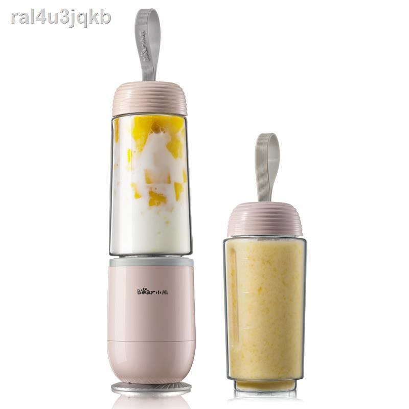 ถ้วยกาแฟ  ₪✶Bear Juicer Net Red Mixing Cup เครื่องทำอาหารไฟฟ้าขนาดเล็กแบบพกพาขนาดเล็กในครัวเรือนน้ำผลไม้ทอดนักเรียน