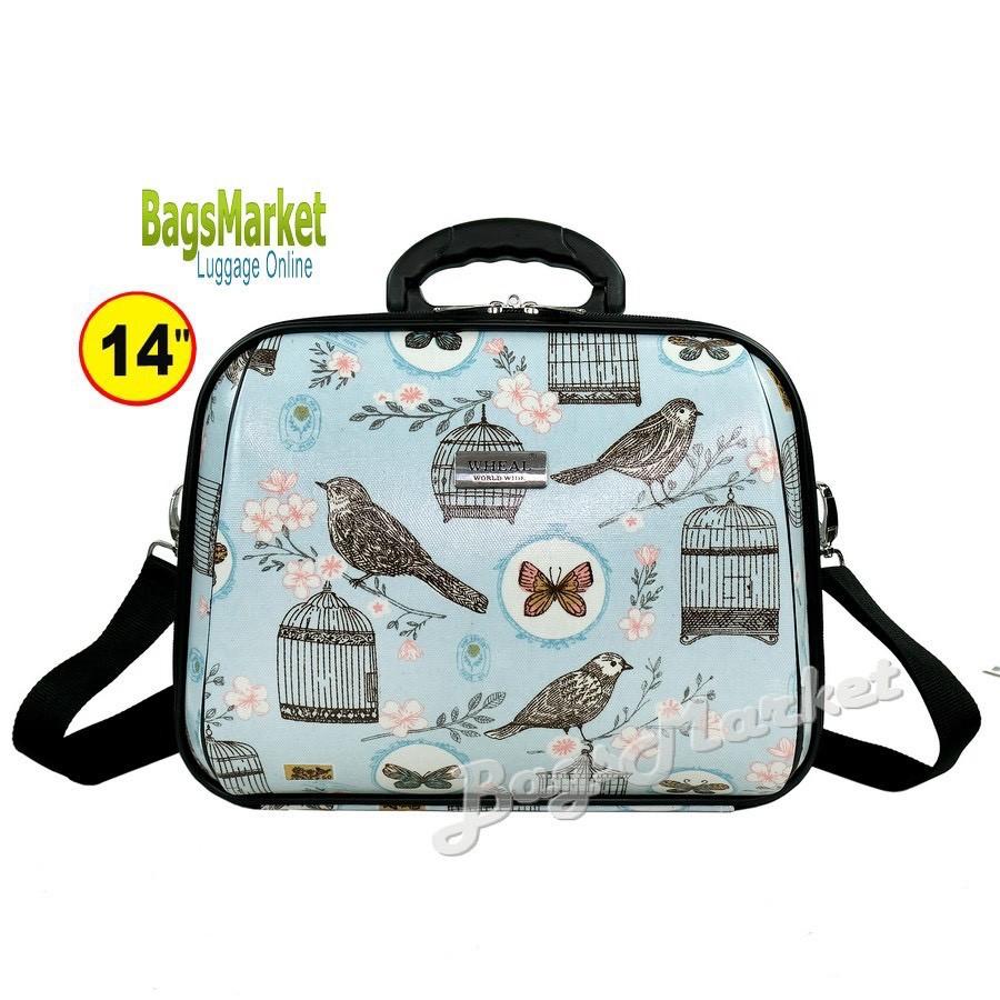 ▽♘❆BagsMarket Luggage 🔥 กระเป๋าเดินทางล้อลากขนาด 20/14 นิ้ว เซ็ท 2 ใบ ลายการ์ตูน Snoopy NavyBlue