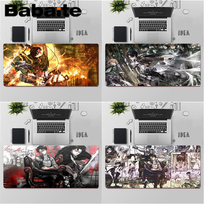 Babaite Top Quality Attack on Titan Levi Ackerman Unique Desktop Pad Game Mousepad Free Shipping Large Mouse Pad Keyboar