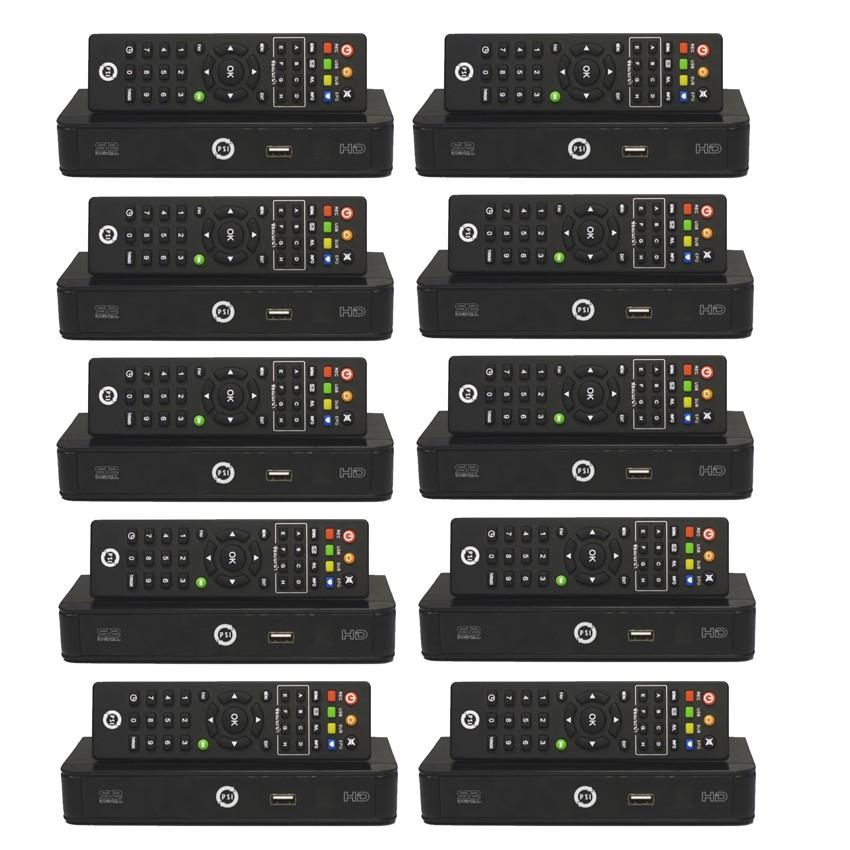 PSI กล่องรับสัญญาณดาวเทียม รุ่น S2 HD (Black) แพ็ค 10