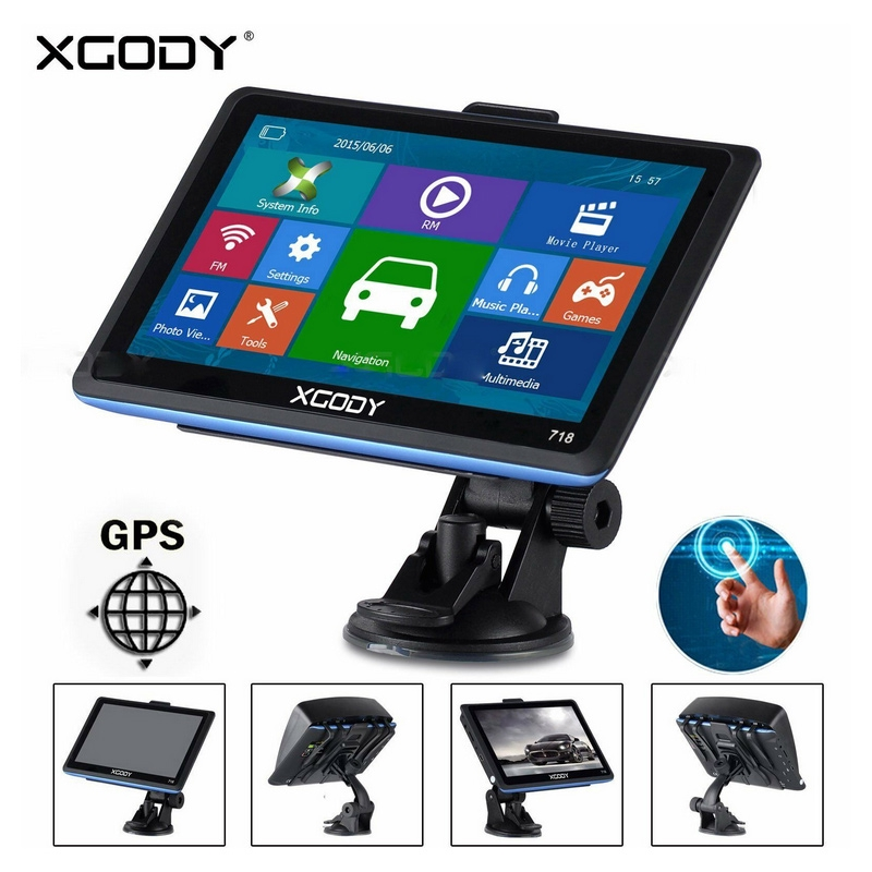 "XGODY 7/"" 8GB Truck Car GPS Navigation Lorry Sat Nav Bluetooth Navigator Free Map"