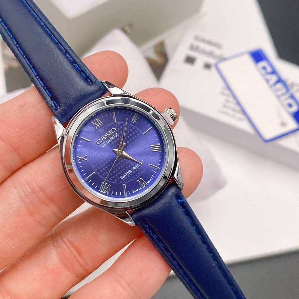 #Casio นาฬิกาตัวเรือนสแตนเลส สายหนัง