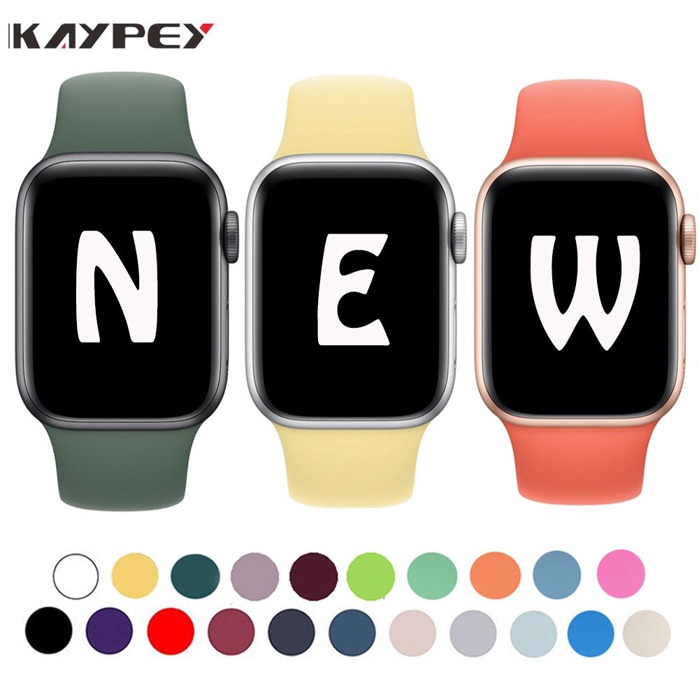 สายนาฬิกาข้อมือซิลิโคนสําหรับ apple watch 40 มม. 44 มม. series  6 SE 5 4 sport band 38 มม. 42 มม.