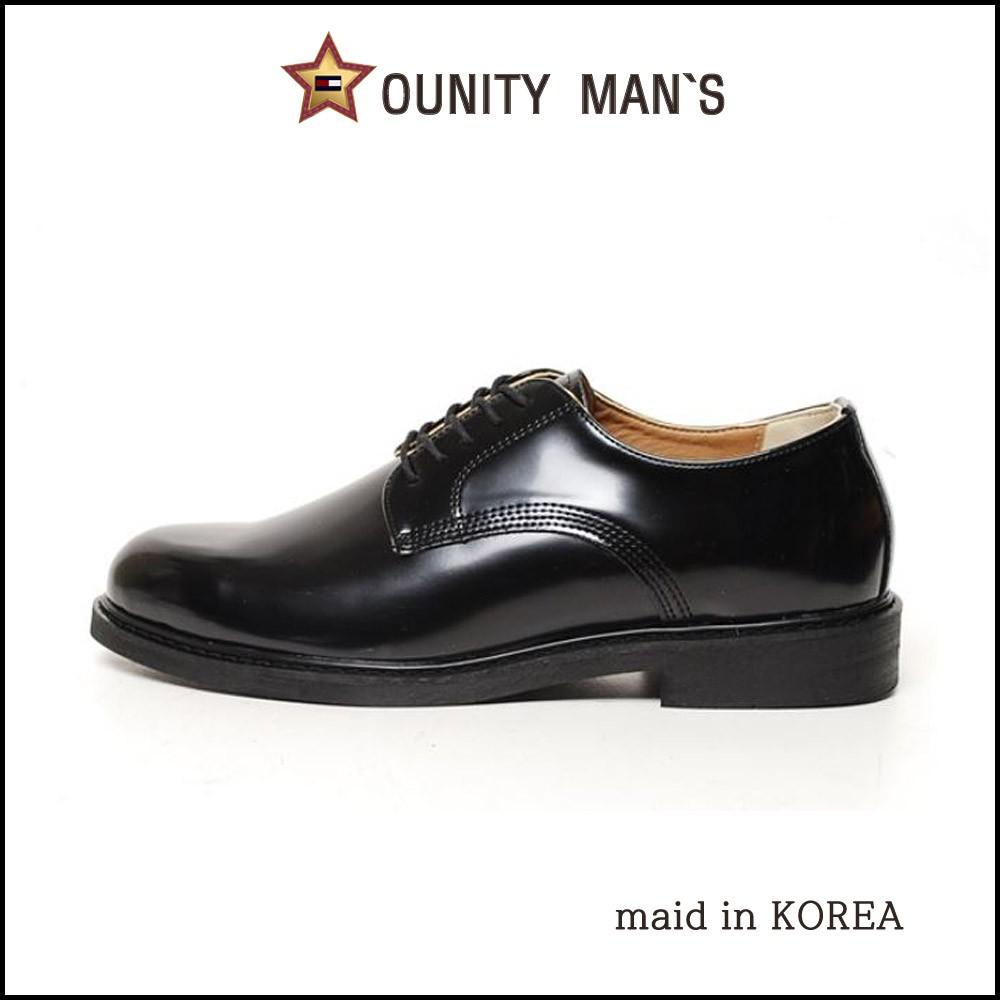 รองเท้าคัชชูหนังผูกเชือก สไตล์เกาหลี สำหรับผู้ชาย 2.5 ซม. YM플레인2.5cm남성