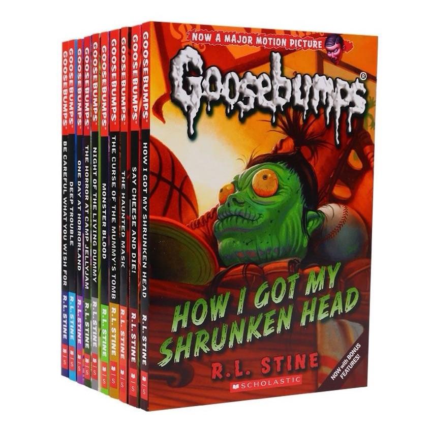 10 Books Set Goosebumps Story Book Reading Material Storybook for Kids Children Boys Girls