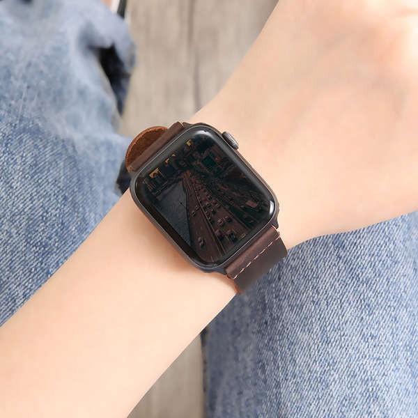 สาย applewatch ใช้ได้กับ iwatch6 / SE สาย applewatch4 / 3/2/1 หนังสาย Apple watch 44 / 42mm / 40/38 ชายและหญิง series5 บ