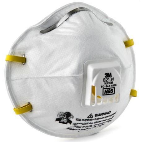 ☄♝【Really stock】 3M 8210V N95 หน้ากากป้องกันฝุ่นชนิดมีวาล์ว