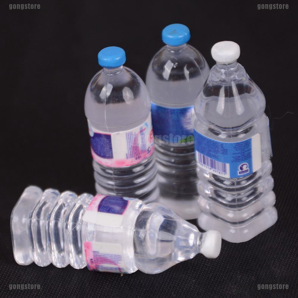 Round 1:12 Scale 2x Bottles Of Evian Water