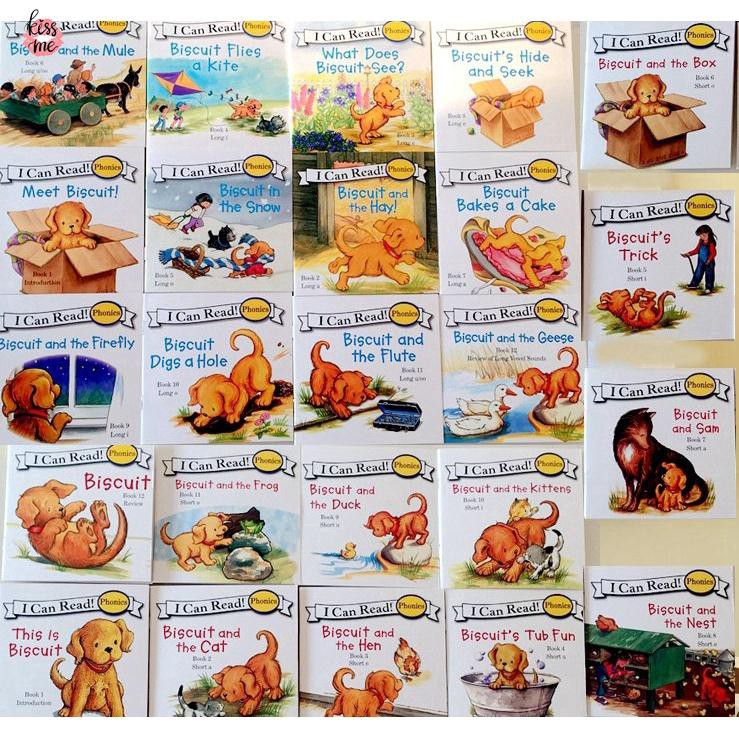 "24 Books Biscuit Phonics English Picture Books ""I Can Read"" หนังสือภาษาอังกฤษ สมุดภาพ"