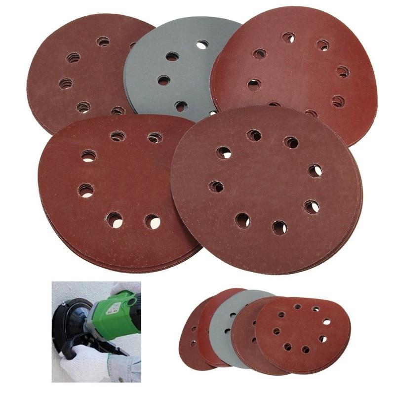 25x 5/'/' Grit 800 1000 1500 2000 3000 SandPaper Sanding Discs Sandpaper Hook Loop