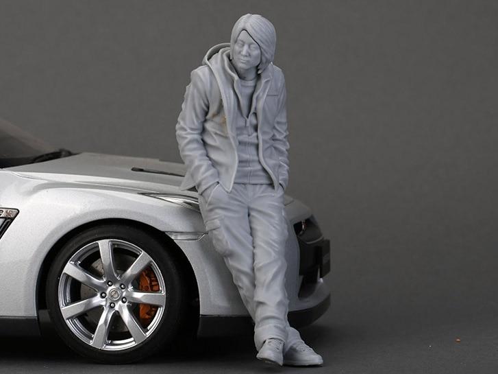 Resin Figure Kit 1/18 Mr. Han Garage Resin Figure Model Kit