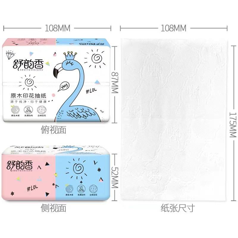 กระดาษทิชชู่ เอนกประสงค์ หน้า กระดาษทิชชูพกพา กระดาษทิชชูไร้สารอันตราย ไม่มีสารเรืองแสง Small F