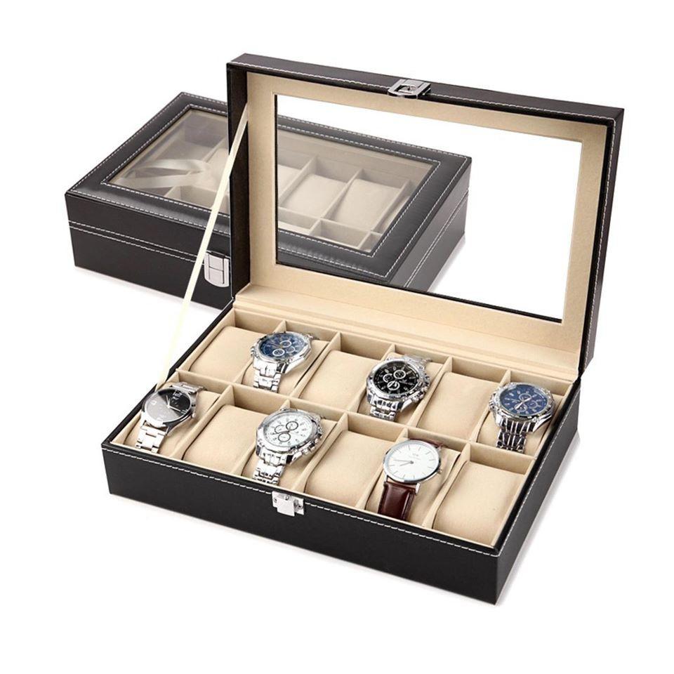 applewatch  สายนาฬิกา  สายapplewatch สายนาฬิกาแฟชั่น สายนาฬิกาApplewatch Gion - กล่องเก็บนาฬิกาข้อมือ 10 เรือน ฝากระจก บ